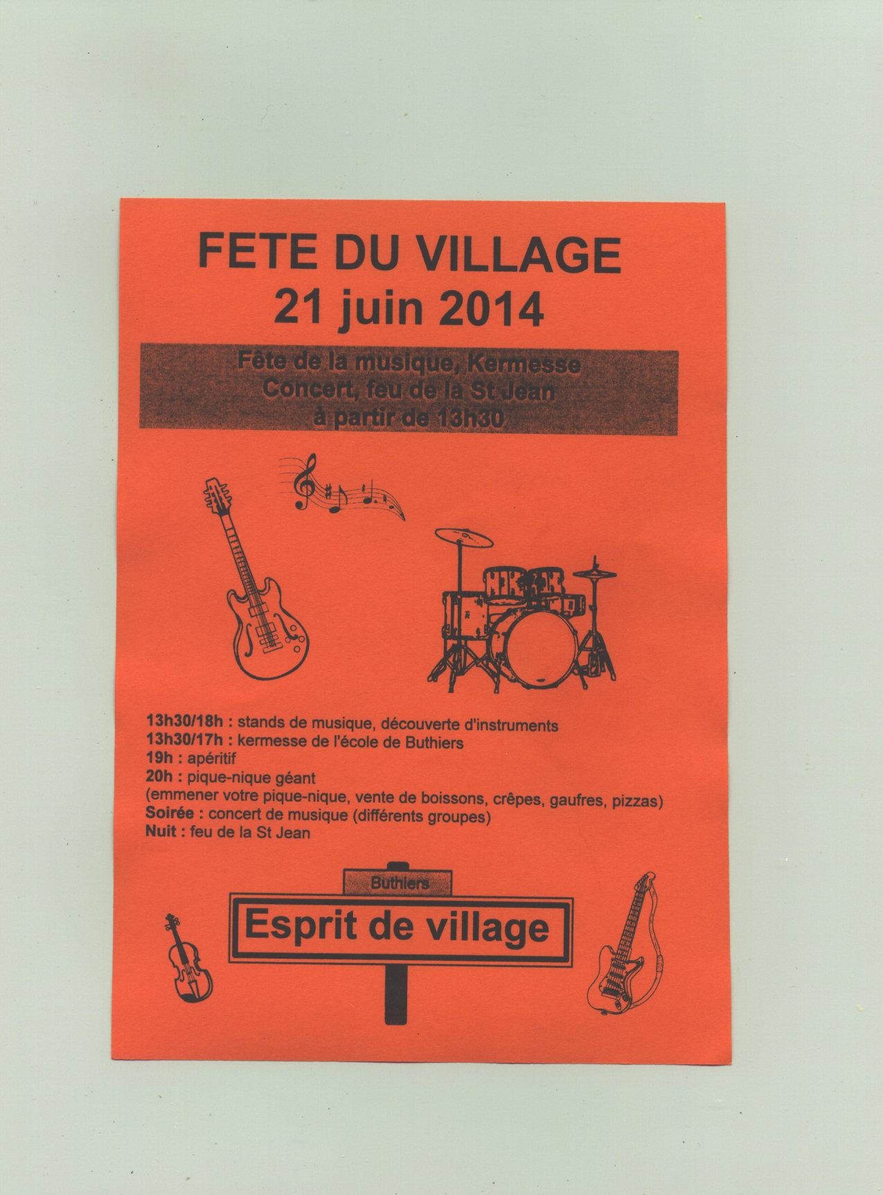 Fête du village 2014