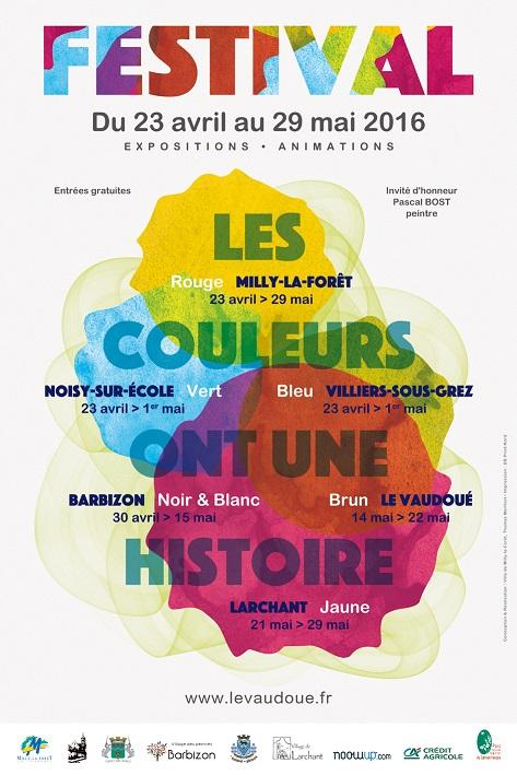 affiche festival des couleurs